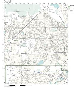 Amazon.com: ZIP Code Wall Map of Fontana, CA ZIP Code Map