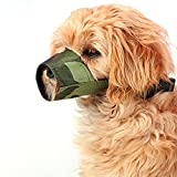 FUNOC® Nylon Pet Dog Safety Muzzle No Bite No Bark No Wrong Eating Dog Masks (Camouflage)