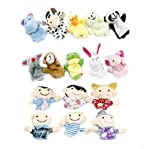 Warm-life® 16pcs Educational Puppets Story Time Finger Puppets-10 Animals and 6 People Family Members Included