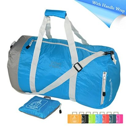 Foldable-Water-Resistant-Travel-Luggage-Duffle-Bag-Lightweight-for-Sports-Gym-Vacation-and-Travel-Duffel-Bags-60L-Sky-Blue