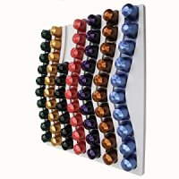 NESPRESSO 60 COFFEE CAPSULE WHITE WALL MOUNTED HOLDER ...