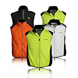 WOLFBIKE Cycling Vest Jersey for Men Sleeveless, Black, Size: XL