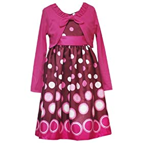 Rare Editions Girls 7-16 Dot Border Dress