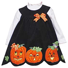 Rare Editions Girls 2-6x Halloween Corduroy