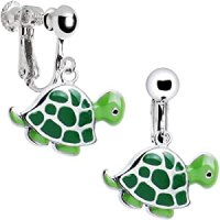 Amazon.com: Stainless Steel Turtle Clip Earrings: Clip On ...