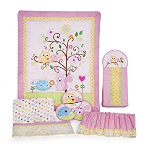 Kids Line Happi Tree Girl Crib Bedding