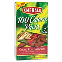 DIAMOND FOODS 84325 100 Calorie Pack Dark Chocolate Cocoa Roast Almonds .63 Oz Packs 7 Packs/box