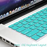GMYLE® Turquoise Robin Egg Blue Keyboard Cover for Macbook Air Pro 13 15 15 Pro Retina 17 US model OS 10.7 New Layout
