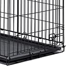 """Midwest Homes for Pets 26PAN Crates, 24"""", Black"""