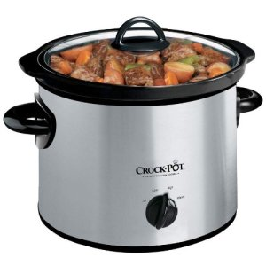 Crock-Pot-3-Quart-Round-Manual-Slow-Cooker-Stainless-Steel-SCR300SS