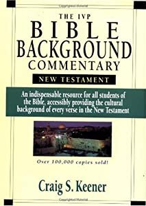"""Cover of """"The IVP Bible Background Commen..."""