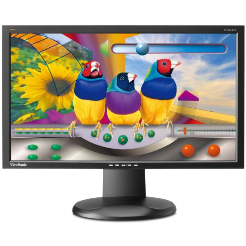 ViewSonic VG2428WM 24-Inch Ergonomic Widescreen Monitor with 1920x1080 Resolution - Black