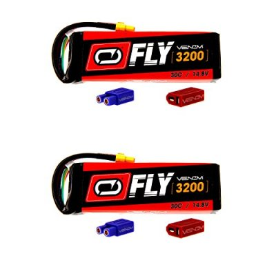 Venom-Fly-30C-4S-3200mAh-148V-LiPo-Battery-with-UNI-20-Plug-XT60DeansEC3-x2-Packs-Compare-to-E-flite-EFLB32004S30