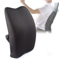MKicesky Orthopedic Memory Foam Lumbar Back Support ...