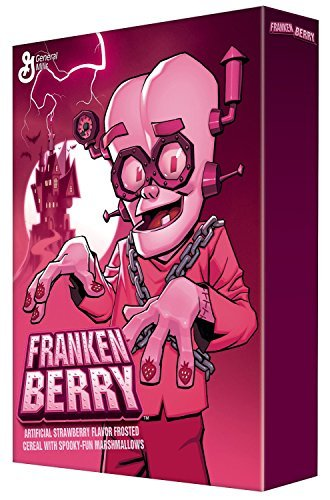 General Mills, Monster Cereal, Franken Berry, 9.6-Ounce Box (Pack of 4)