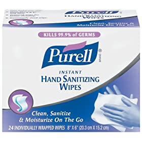 hand sanitizing wipes can help prevent the flu