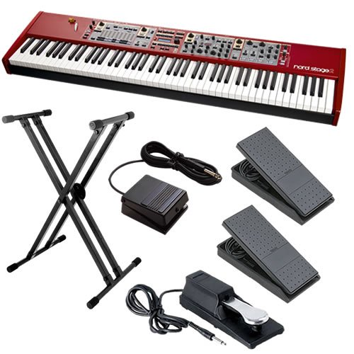 Nord Stage 2 88-Key Stage Piano ESSENTIALS BUNDLE w/ Stand & Pedals