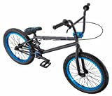 Eastern Bikes Chief BMX Bike (Matte Black with Blue, 20-Inch)