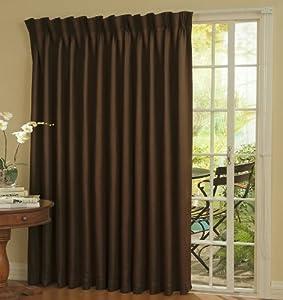 Amazoncom Eclipse Thermal Blackout Patio Door Curtain