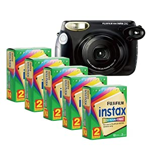 Fujifilm INSTAX 210 Instant Photo Camera Kit with 5 Twin Pack of INSTAX Film