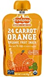 Fruigees Organic Fruit Snack, 24 Carrot Orange, 6 Count