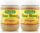 Stakich GINGER Enriched RAW HONEY 5-LB - 100% Pure, Unprocessed, Unheated -