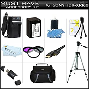 Amazoncom  Must Have Accessory Kit For Sony HDRXR160 High Definition Handycam Camcorder