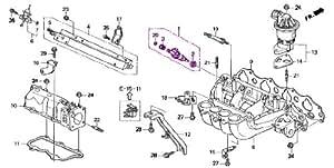 Amazon.com: Genuine Honda 06164-P2J-000 Fuel Injector Set