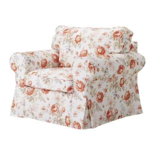 floral arm chair wheel wheels covers ikea ektorp armchair cover slipcover byvik multicolor review