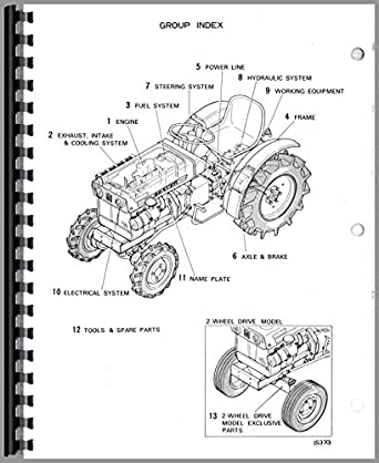 Mitsubishi D1300FD Tractor Parts Manual: Amazon.com