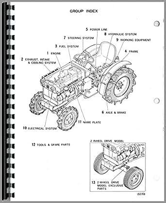 Mitsubishi D1300FD Tractor Parts Manual: Amazon.com