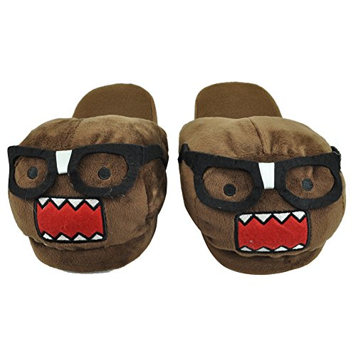 NHK Domo Kun Nerd Face Japanese Animation Men Plush Cartoon Slippers Large 10/11