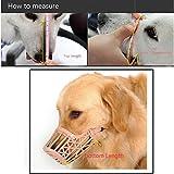HuaYang Plastic Adjustable Pet Dog Basket Muzzle Protection Mask Mouth Mesh Cage #3