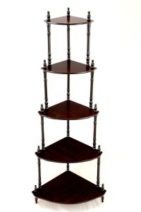 Frenchi Furniture Cherry 5-tier Corner Stand shelf Decor ...
