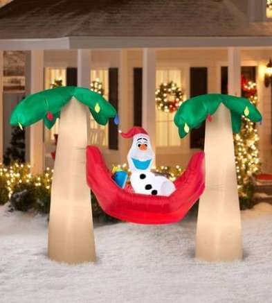 Inflatable Christmas Decorations.Frozen Christmas Inflatables Lawn Decorations For The