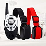 SALE: TrainPro 1100 Yard Dual Rechargeable Waterproof Dog Training Collars with Updated 2016 Crystal LCD Remote Control. Safely Train Two Dogs at Same Time.