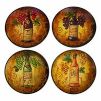 Wine Grape Decorative Round Ceramic Accent Plate, 10-inch ...