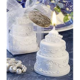 Cinderella Wedding Cake Candle Favor