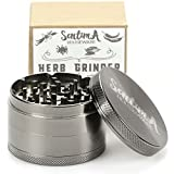 Sentima Tobacco Spice Weed Herb Grinder with Pollen Catcher - 2.5 Inch 4 Piece Heavy Duty Zinc Alloy - 50 Strong Teeth for Fine Grinding