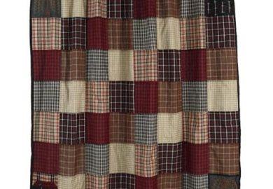 Plaid Shower Curtain Primitive