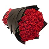 50 Luxury Farm Fresh Red Roses Bouquet By JustFreshRoses | Long Stem Fresh Red Rose Delivery