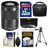 Canon-EF-M-55-200mm-f45-63-IS-STM-Lens-with-32GB-Card-Case-3-Filters-Tripod-Kit-for-EOS-M-M2-M3-ILC-Digital-Camera