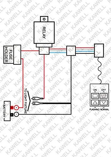 KAWELL Heavy Duty LED Light Bar Wiring Harness Kit with 14
