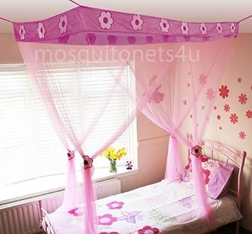 mosquito nets 4 u voile pour lit a baldaquin pour enfant motif princesse fleur snrlnoii 42