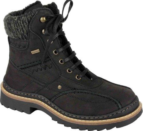 Oirginal KLONDIKE Winterstiefel aus Velourleder Fashion Style schwarz Groesse-38