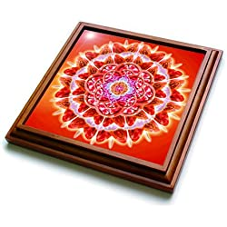 "3dRose trv_193591_1 Root Chakra Trivet with Ceramic Tile, 8 by 8"", Brown"