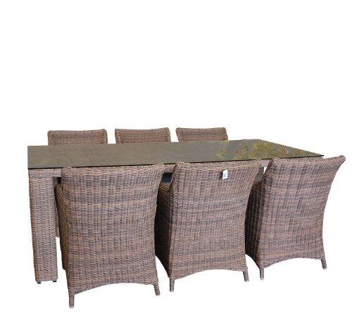 Aluminium Poly Rattan Lounge Gartengarnitur - 13tlg