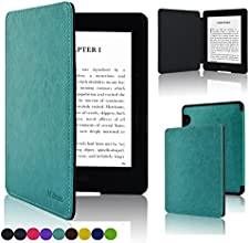 Kindle Voyage Case - ACcase Kindle Voyage SmartShell Protective Case - the Thinnest and Lightest Premium PU Leather Cover Case for Amazon Kindle Voyage 2014 Version with Auto Wake Sleep Feature - Sky Blue