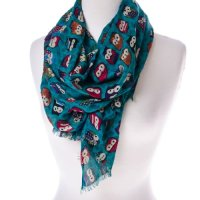 Owl Print Scarf : Hats & Scarves