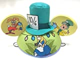 Disney Parks Alice in Wonderland Mickey Mouse Ears Hat NEW Adult Size